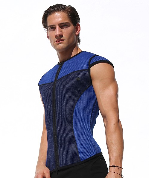 Rufskin Milan Spacer Mesh Zip-Up Vest Royal