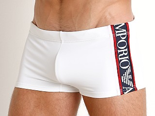 Emporio Armani Color Block Swim Trunk White