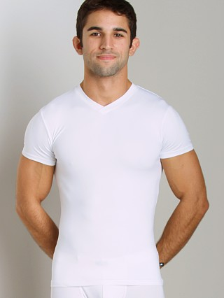JM Skinz V-Neck Shirt White