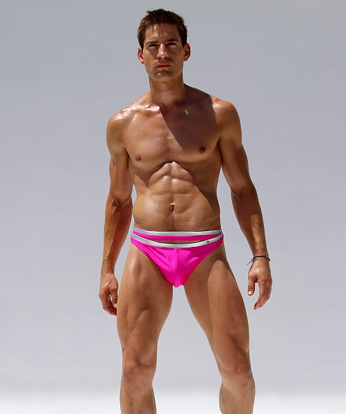 Rufskin Crown Swim Brief Pink/Silver