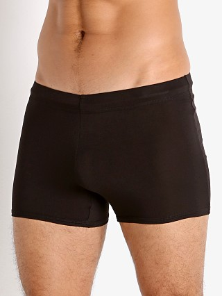 Model in black McKillop Tackle Modal Tight Lounge Short