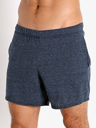 Model in navy heather McKillop Propel Cotton/Poly Lounge Shorts