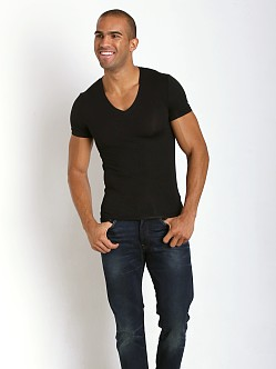 Tommy John Second Skin V-Neck Black