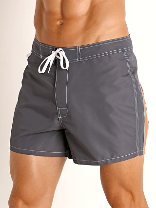 "Model in midnight #15 Sundek 14"" Classic Low-Rise Boardshort"