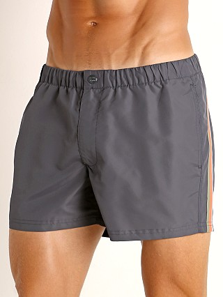 "Model in midnight #15 Sundek 13"" Elastic Waistband Surf Trunk"