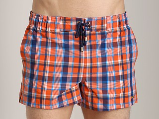 2xist Summer Plaid Ibiza Swim Shorts Flame