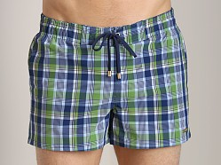 2xist Summer Plaid Ibiza Swim Shorts Sour Apple