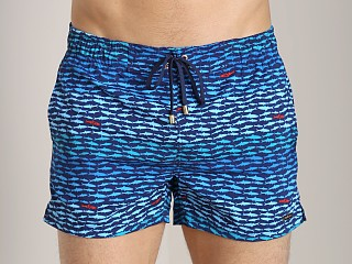 2xist School Of Fish Ibiza Swim Shorts Midnight Blue