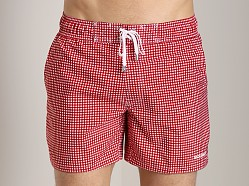 2xist Check Ibiza Swim Shorts Salsa Red