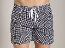 2xist Check Ibiza Swim Shorts Black