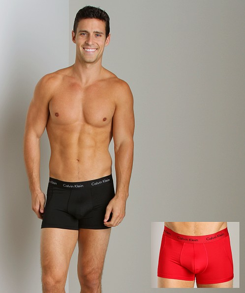Calvin Klein Microfiber Stretch Trunk 2 Pack Black/Red