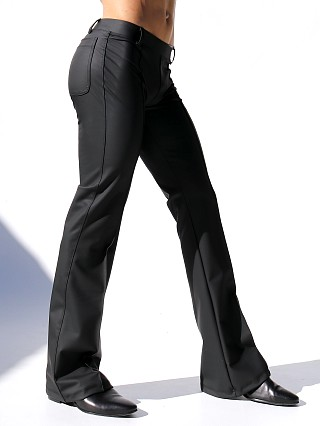 "Complete the look: Rufskin Roncho Stretch ""Rubber"" Flared-Leg Pants Black"