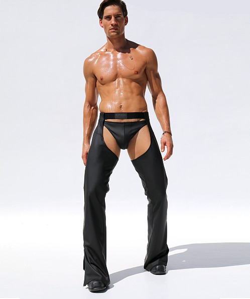 "Rufskin Ryder Stretch ""Rubber"" Chaps Black"