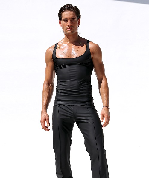 "Rufskin Corto Stretch ""Rubber"" Tank Top Black"