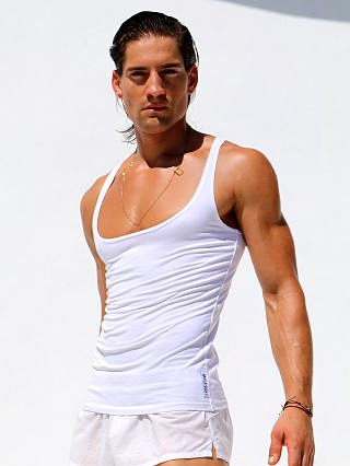 You may also like: Rufskin Zack Premium Stretch Cotton Low-Chest Tank Top White