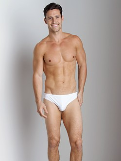 Emporio Armani Big Logo Lycra Swim Brief White