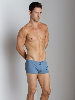Emporio Armani Big Logo Lycra Swim Trunk Smokey Blue