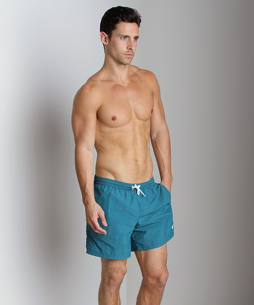 Emporio Armani Embroidery Logo Swim Shorts Peacock