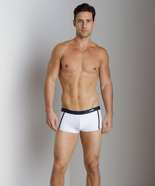 Emporio Armani Pool Lycra Swim Trunk White
