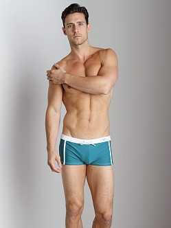 Emporio Armani Pool Lycra Swim Trunk Peacock