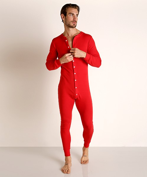 Go Softwear Lumberjack Lounge Union Suit Red