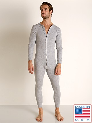 Go Softwear Lumberjack Lounge Union Suit Heather Grey