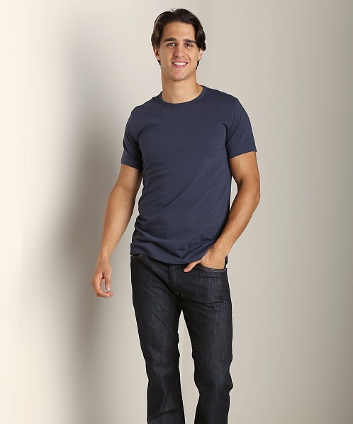 Diesel Essential Dave 100% Cotton T-Shirt Navy