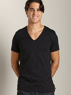 Diesel Essential Dave 100% Cotton V-Neck Shirt Black