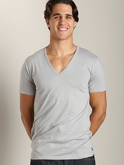 Diesel Essential Dave 100% Cotton V-Neck Shirt Grey