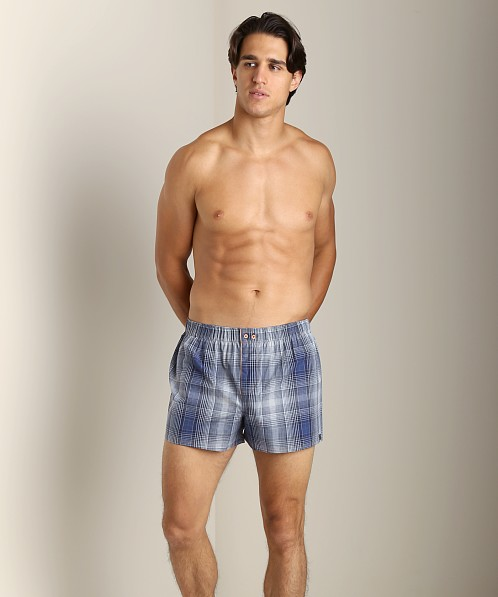 Diesel Fred Plaid Boxer Shorts Blue
