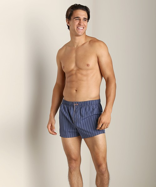 Diesel Fred Stripes Boxer Shorts Blue
