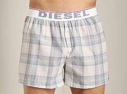 Diesel Luv Plaid Boxer Shorts Grey