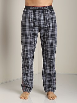 Diesel Derik Plaid Lounge Pants Black