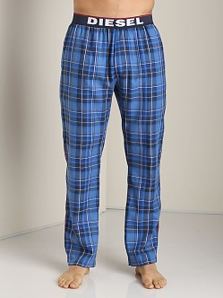 Diesel Derik Plaid Lounge Pants Blue