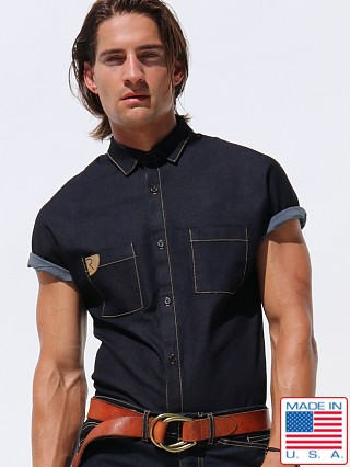 Rufskin Stud Sateen Denim Shirt Indigo