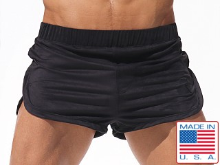 Rufskin Saddle Eco Suede Sport and Lounge Shorts Black