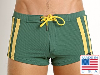 Sauvage Surf Pique Nylon Lycra Swim Trunk Army