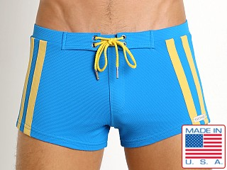 Sauvage Surf Pique Nylon Lycra Swim Trunk Royal