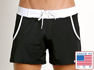 Sauvage Pocket Retro Swim Short Black