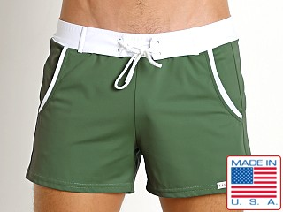 Sauvage Pocket Retro Swim Short Army