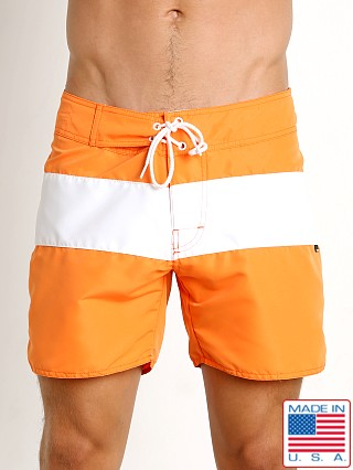 Model in orange Sauvage Surf California Classic Boardshort