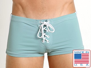 Sauvage Football Lace-up Short Seafoam
