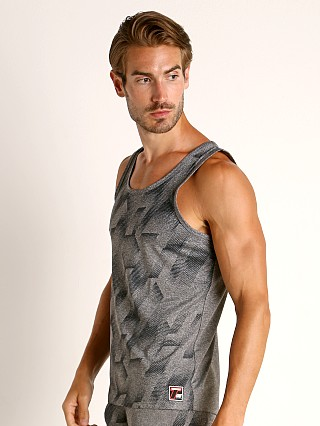 Model in grey Timoteo Aero Sport Tank Top