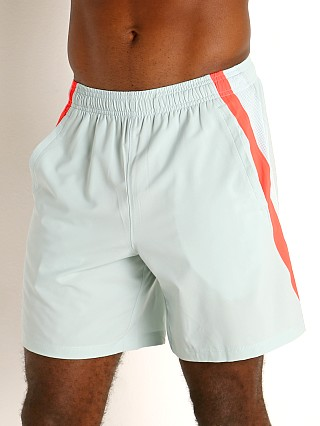 "Model in enamel blue/reflective Under Armour Launch 7"" Running Short"