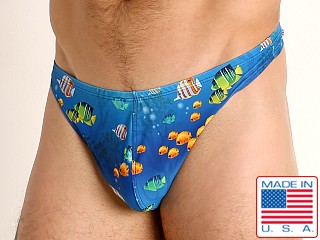Model in fish paradise LASC Brazil Swim Thong