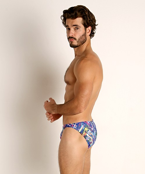 LASC Super Low Rise Swim Brief Navy Slash