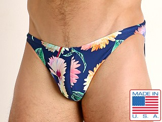 Model in african daisies LASC Super Low Rise Swim Brief