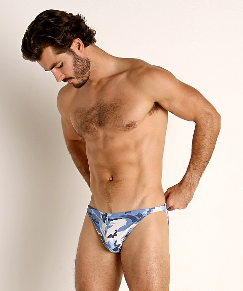 LASC Super Low Rise Swim Brief Marine Camo
