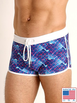 Model in revelation LASC Square Cut Swim Trunk