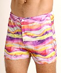 LASC Malibu Swim Shorts Pink Waves, view 3